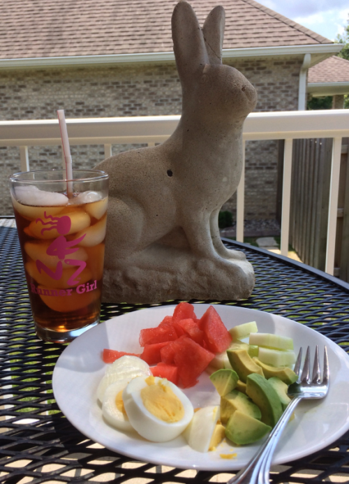 lunch with the rabbit